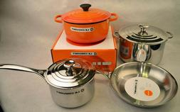 Le Creuset 7-Piece Stainless Steel and Enameled Cast Iron Co