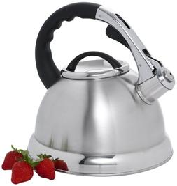 Creative Home 72223 Camille Stainless Steel Whistling Tea Ke