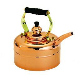 Old Dutch 868 Tri-Ply Copper Windsor Whistling Teakettle, 3-