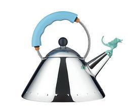Alessi - 9093REXLAZ – Tea Rex Kettle – Light Blue Handle