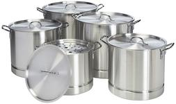 9818 Uniware Heavy Gauge Aluminum Sauce Pot Set