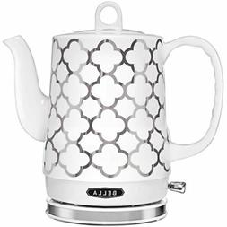 BELLA  1.2 Liter Electric Ceramic Tea Kettle with Detachable