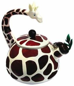 HOME-X Giraffe Whistling Tea Kettle, Animal Teapot, Kitchen