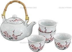 Happy Sales Pink Cherry Blossom Porcelain Tea Set