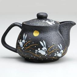I rabbit Kutani pottery teapot pot