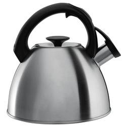 OXO 1072130 Tea Kettle, Stainless Steel 2.1 qt Capacity, 8.8