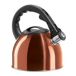 Oggi Stainless Steel Whistling Tea Kettle with Nylon Stay Co