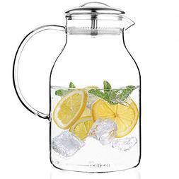 Tealyra - Glass Carafe 68 ounce - Stove-Top Safe - Heat Resi