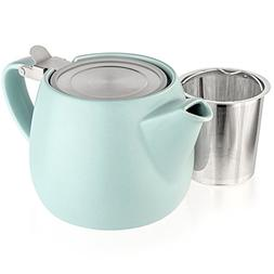 Tealyra - Pluto Porcelain Small Teapot Turquoise - 18.2-ounc
