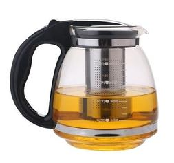 1.5 Liter Glass Tea Kettle /Pot  with Stainless Steel Filter