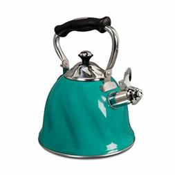 Mr. Coffee Alderton Stainless Steel Whistling Tea Kettle 2.3