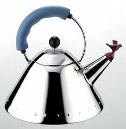 ALESSI MICHAEL GRAVES KETTLE BLUE HANDLE  - NEW