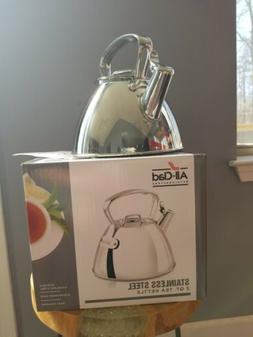 All-Clad Stainless Steel 2 Quart Tea Kettle NEW IN BOX #E861