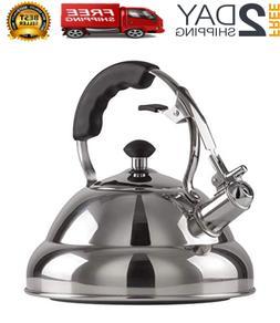 Alpine Cuisine Stainless Steel Teakettle, Tea Pot,.75-Quart