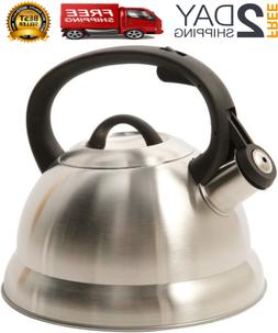 Alpine Cuisine Stainless Steel Teakettle, Tea Pot, 1.75-Quar