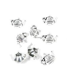 130 Pieces Antique Silver Tone Jewelry Making Charms Finding