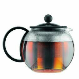 Bodum Assam - Tea Press - Black Lid & Handle, Stainless Stee