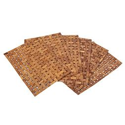 Kuber Industries Bamboo Dining Table Placemats Set of 6 Pcs