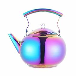 Beautiful Tea Kettle with Infuser Stainless Steel Water coff
