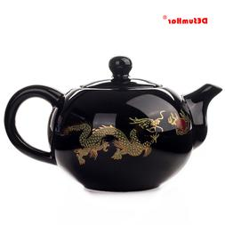 Black <font><b>Ceramic</b></font> <font><b>Tea</b></font> po