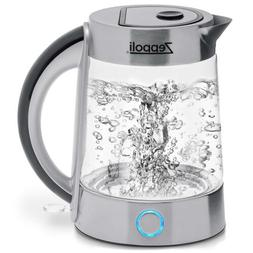 Zeppoli BPA Free Fast Boiling Glass Electric Kettle  Tea Ket