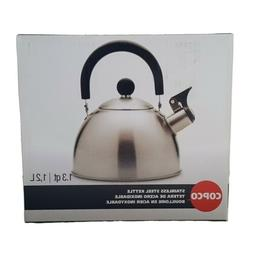 Brand New Copco 1.3 Qt Brushed Stainless Steel Tea Kettle Ki