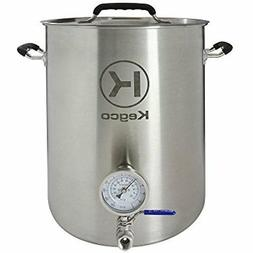 Kegco 8 Gallon Brew Kettle with Thermometer & 2-Piece Ball V