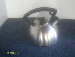 COPCO BRUSHED STAINLESS STEEL WHISTLING TEA KETTLE- 1 1/2QT-
