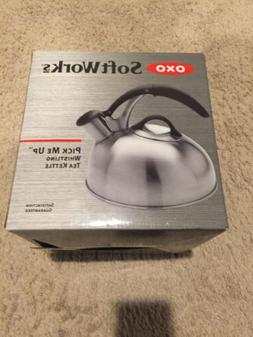SoftWorks Brushed Stainless Tea Kettle
