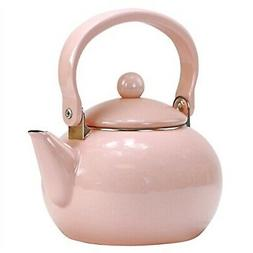 Calypso Basics 2-Quart Enamel-on-Steel Teakettle, Pink