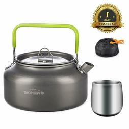 Overmont Camping Kettle Camp Tea Kettle /Color: 1.2Lwith cup