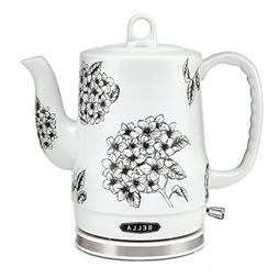 New Bella Ceramic Electric Kettle Floral Tea Water Hot table