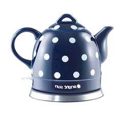 FixtureDisplays Ceramic Electric Kettle with Polka Dots Blue