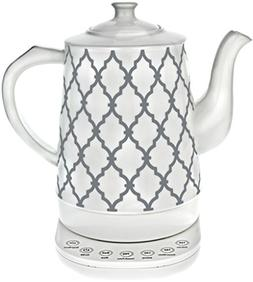 Ceramic Tea Kettle with 5 Temperature Presets - 1.6L Electri