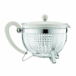 Bodum Chambord Tea Pot, 1.3-Liter, 44-Ounce, Off-White