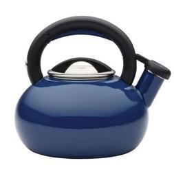 Circulon 1-1/2-Quart Sunrise Tea Kettle, Navy Blue - 51392