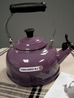 LE CREUSET CLASSIC WHISTLING TEA KETTLE CASSIS  1.7 QT. NEW/
