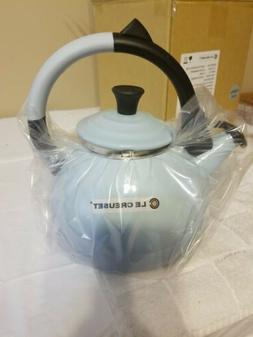 LE CREUSET COASTAL BLUE WHISTLING TEA KETTLE 1.6 QT. NEW/BOX