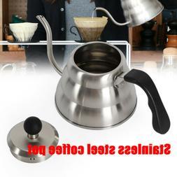 Coffee Tea Moka Kettle Stainless Gooseneck Pour Over Hand Dr