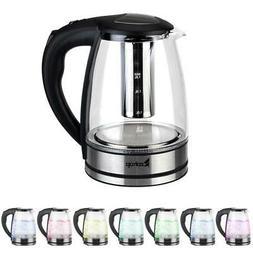 1.8L 1500W Electric Glass Kettle Hot Water Boiler Auto Shut-