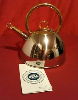 Cook & Serve 24K Gold Plated Tea Kettle Command Cuisine Cook
