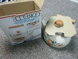 Corelle Coordinates-2.5qt Tea Kettle Abundance Porcelain Ena