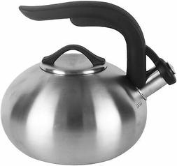 Copco 5216825 Arc Brushed Tea Kettle, 1.8 quart, Stainless S