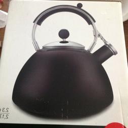 Copco Teapot Tea Kettle BLACK NEW Lg 2.3 qt Porcelain Enamel