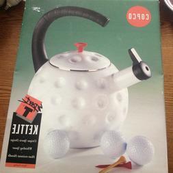 Copco Teapot Tea Kettle White Golf Ball NOS NEW Lg 2.5 qt Po