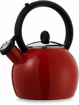 Copco Vienna Red Porcelain Enamel Tea Kettle