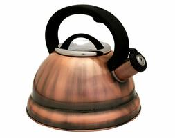 Copper Finish Stainless Steel 3-quart qt 2.8 Liter Whistling