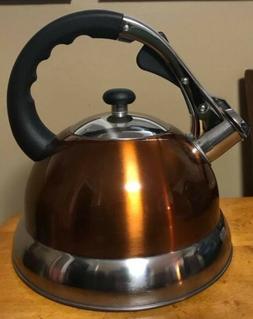 Copper Stainless Steel Whistling Tea Kettle - Tea Maker Pot