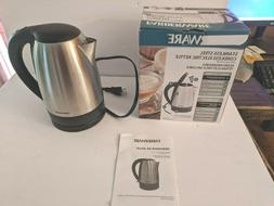 Cordless Electric Stainless Steel Kettle 1.7 Liter Water Boi