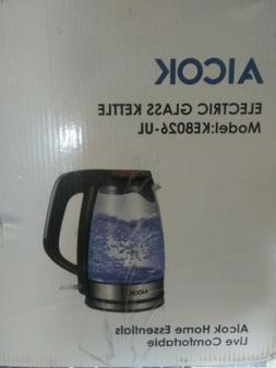 Aicok Cordless Electric Kettle Speed Boil 1500W BPA-Free Gla